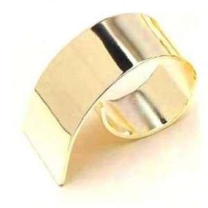 Gold Swirl Napkin Ring Set of 8
