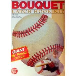 Giant 36 Round Baseball KT233 Latch Hook Kit Arts, Crafts & Sewing