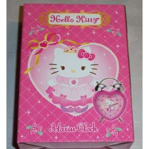 HELLO KITTY PINK HEART ALARM CLOCK  Toys & Games