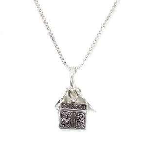 Inspirational Locket Pendant Necklace; 18L; Pendant Is .75L; Antique