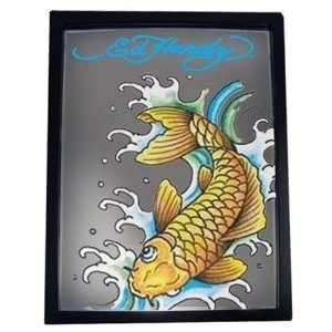 Ed Hardy Gold Koi Fish Bar Mirror