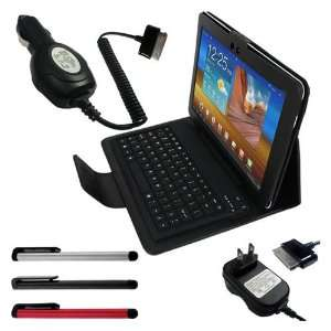 Color(Black/Red/Silver) + Black Leather Case With Bluetooth Keyboard