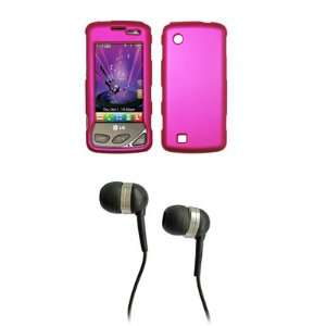LG Chocolate Touch VX8575 Premium Hot Pink Rubberized Snap on Case