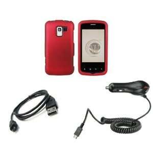 LG Optimus Slider (Virgin Mobile) Premium Combo Pack   Red Shield Hard