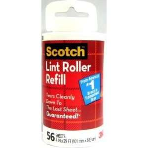 Scotch 3M Household Lint Roller Refill,56 Sheets (3 Pack