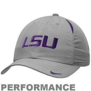 Nike LSU Tigers Gray Feather Light Performance Hat Sports
