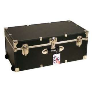 Trunk with Wheels   30 in Black by Mercury Luggage Clothing