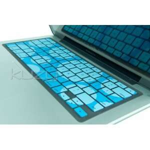 Circles Aqua/Blue Keyboard Silicone Cover Skin for Macbook / Macbook