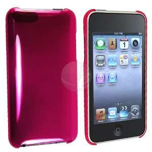 Apple iPod Touch Gen 2 / 3, Clear Hot Pink  Players & Accessories