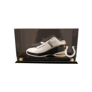 Single Football Shoe Display Case with Engraved NFL Team Logo