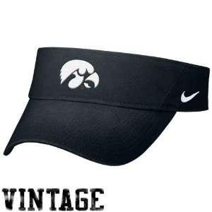 Nike Iowa Hawkeyes Black Sand Blasted Visor Sports