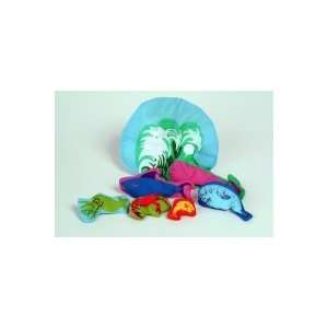 Old Lady Who Swallowed The Sea Creatures Set Plush Doll Toy Toys