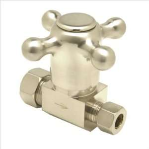 Mountain Plumbing Cross Handle Straight Valve with 1/2 Compression
