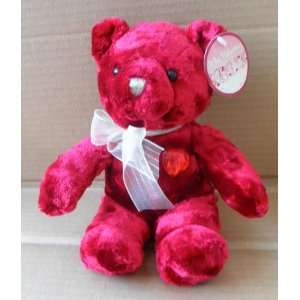 Red Teddy Bear Stuffed Animal Plush Toy   9 inches tall Electronics