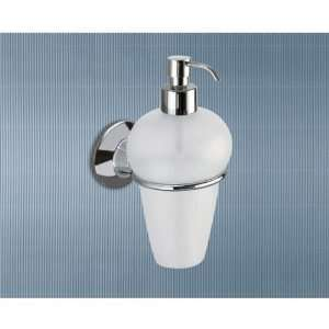 Wall Mounted Frosted Glass Soap Dispenser with Chrome Mounting 2781 13