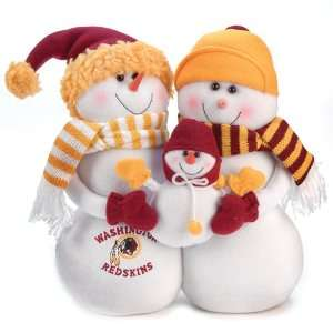 NFL Washington Redskins Snowmen Family Holiday Table Top