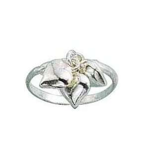 STERLING SILVER TRIPLE HEART CHARM RING SIZE 8 Jewelry