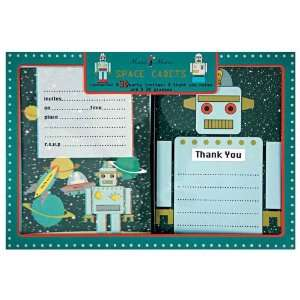 Meri Space Cadet/Robot Invitation & Thank You Set, 8 ct Toys & Games