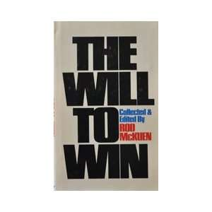 The will to win (Stanyan books) (9780394473796) Rod McKuen Books
