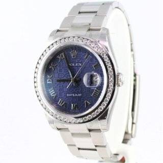 Mens Rolex Ss Mother of Pearl Sapphires Jubilee Watches