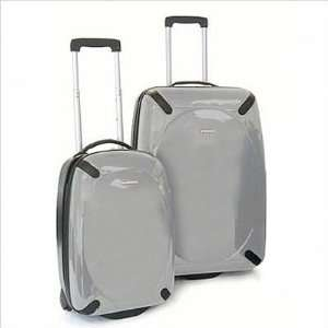 Ciao 81401A 2 Polycarbonate 2 Piece Luggage Set in Silver