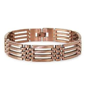 Stainless Steel Bracelet Rose Gold Plated (15mm Wide) 8.5