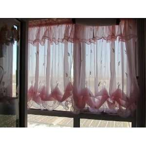 Romantic Pink Ruffle Adjustable Balloon Shade/curtain Home & Kitchen