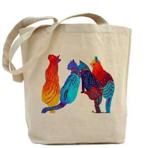 Cat Quartet Humor Tote Bag by  Beauty