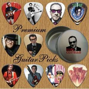 Elvis Costello 10 Premium Guitar Picks In Tin (0) Musical Instruments