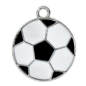 DIY Jewelry Making 12x Soccer Ball Futbol Alloy Charms