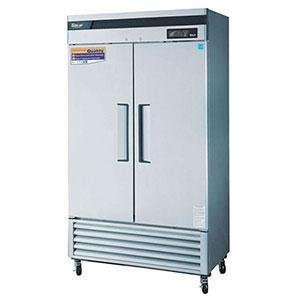 Turbo Air TSR 35SD Stainless Steel 2 Solid Door Refrigerator   35 Cu