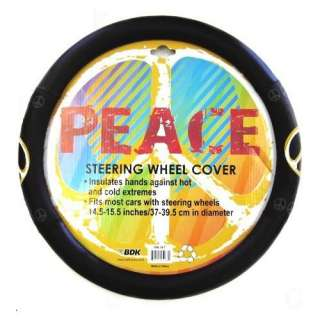 Comfort Grip Steering Wheel Cover   Peace Sign Symbol