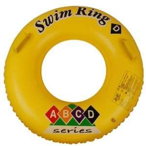 Inflatable Swim Ring With Two Handles 30 Inch   Yellow