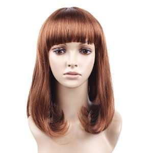 Brown Straight Synthetic Hair Wig/wigs for Women Multi long Beauty