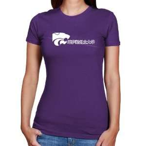 Wildcats Ladies Chinese Slim Fit T shirt   Purple Sports & Outdoors