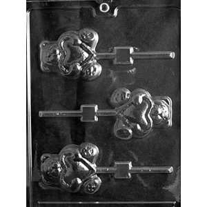 TEDDY WITH HEART LOLLY Valentine Candy Mold chocolate