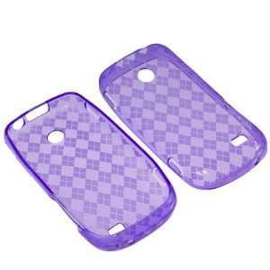 Tracfone, Straight Talk Samsung T528G  Purple Checker Cell Phones