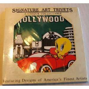 Signature Art Trivets 6x6 Ceramic Looney Tunes Tweety