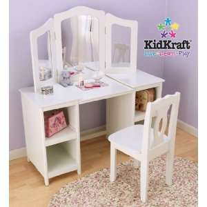 Deluxe Vanity Table and Chair Set by KidKraft