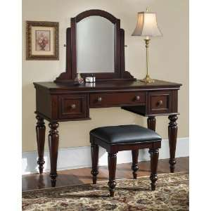 Home Styles 5537 72 Lafayette Vanity Table and Bench, Cottage Oak