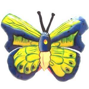 Butterfly Tropical Haitian Metal Art Home Room Yard Garden