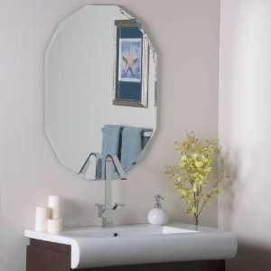 Decor Wonderland SSM8002 Oval Shaped Frameless Wall Mirror