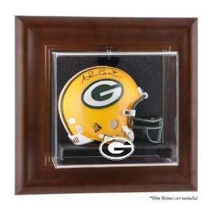 Brown Framed Wall Mounted Mini Helmet Case (packers