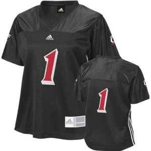 Womens adidas #1 Black Fashion Football Jersey