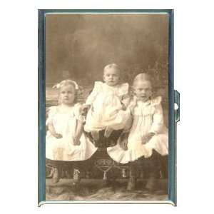 Vintage 3 Cute Little Girls ID Holder, Cigarette Case or Wallet MADE