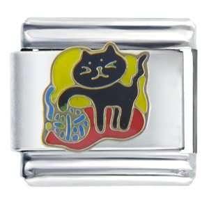 Playful Cat Animal Italian Charms Bracelet Link Pugster