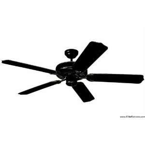 Monte Carlo Fans 5WF52BK Black Ceiling Fan Matte Black