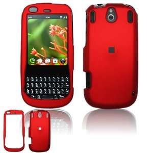 Red Hard Rubber Feel Accessory Faceplate Case Cover for