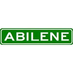 ABILENE City Limit Sign   High Quality Aluminum Sports