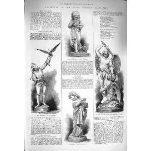 1875 Sculpture Royal Academy Vanarella Falconer Satan Home & Kitchen